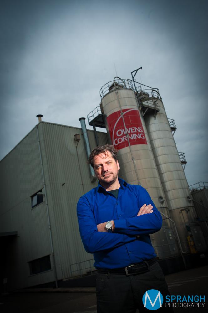 Twan Jansen, directeur Owens Corning Apeldoorn © Maarten Sprangh